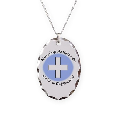 Nursing Assistant Necklace Oval Charm
