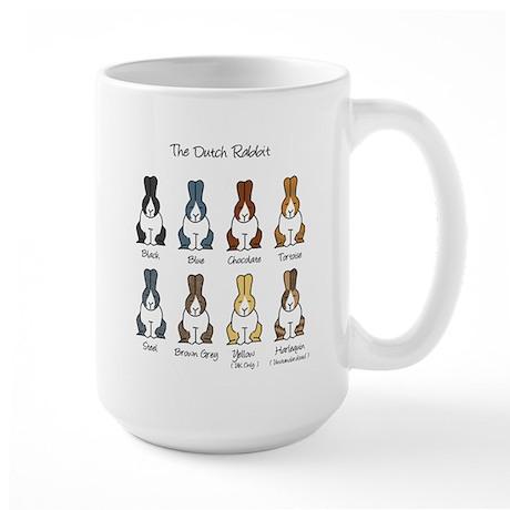 Dutch Rabbit Colors Large Mug
