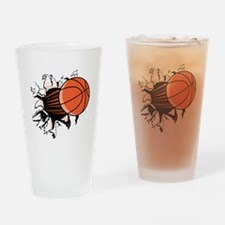 Basketball Drinking Glass