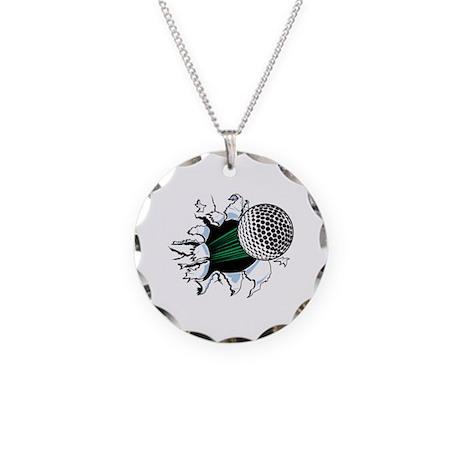 Golf Ball Necklace Circle Charm