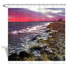 Sunset on Falmouth South Beac Shower Curtain