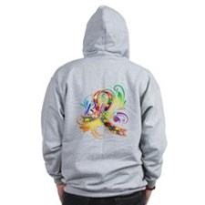 Autism Awareness Believe Zip Hoodie