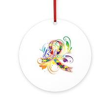 Autism Awareness Believe Ornament (Round)