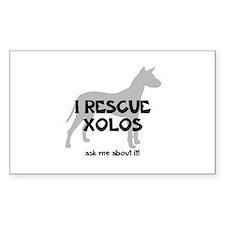 I RESCUE Xolos Bumper Stickers