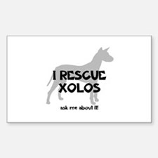I RESCUE Xolos Decal