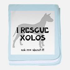 I RESCUE Xolos baby blanket