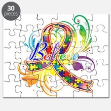 Autism Awareness Believe Puzzle