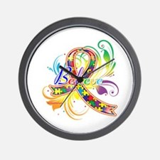 Autism Awareness Believe Wall Clock