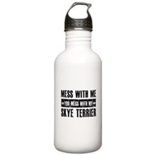Skye Terrier design Water Bottle