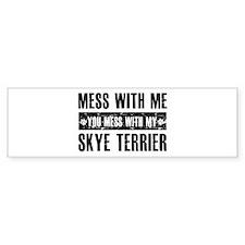 Skye Terrier design Bumper Sticker