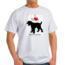 Black Russian Terrier Ash Grey T-Shirt