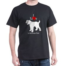 Black Russian Terrier Black T-Shirt