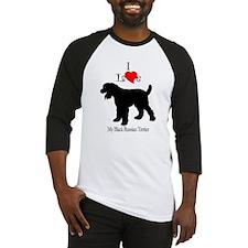 Black Russian Terrier Baseball Jersey