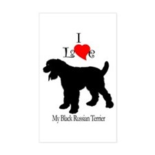 Black Russian Terrier Rectangle Decal