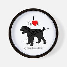 Black Russian Terrier Wall Clock