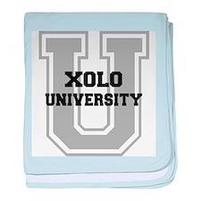 Xolo UNIVERSITY baby blanket