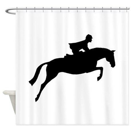 h/j horse & rider Shower Curtain