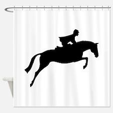 h/j horse & rider Shower Curtain
