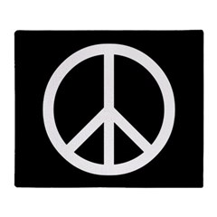 White Peace Sign Throw Blanket