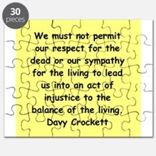 Davy Crockett Puzzle