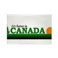 Cool Calgary travel Rectangle Magnet