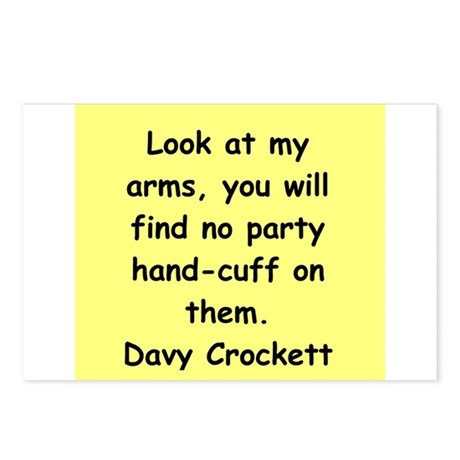 Davy Crockett Postcards (Package of 8)