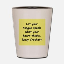 Davy Crockett Shot Glass