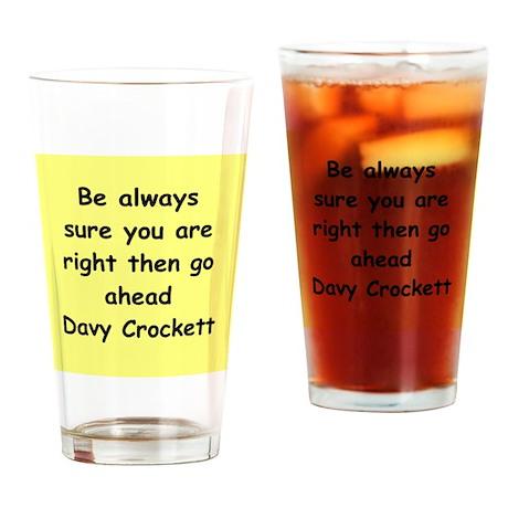 Davy Crockett Drinking Glass