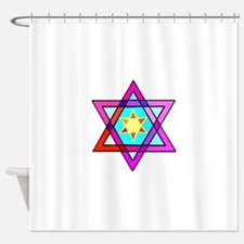 Jewish Star Of David Shower Curtain