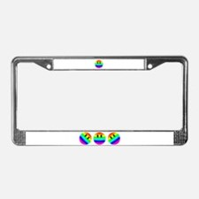A Smiling License Plate Frame