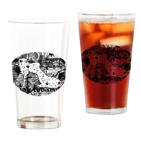 galaxy girl Drinking Glass