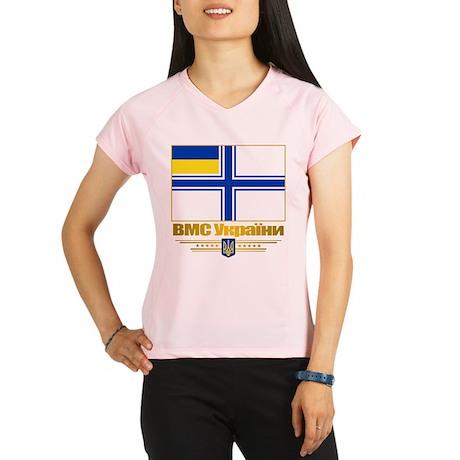 """Ukraine Naval Ensign"" Performance Dry T-Shirt"