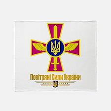 """Ukrainian Air Forces"" Throw Blanket"