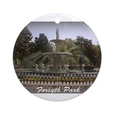 Forsyth Park Fountain Ornament (Round)