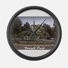 Forsyth Park Fountain Large Wall Clock