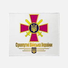 """Ukrainian Ground Forces"" Throw Blanket"