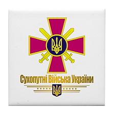 """Ukrainian Ground Forces"" Tile Coaster"