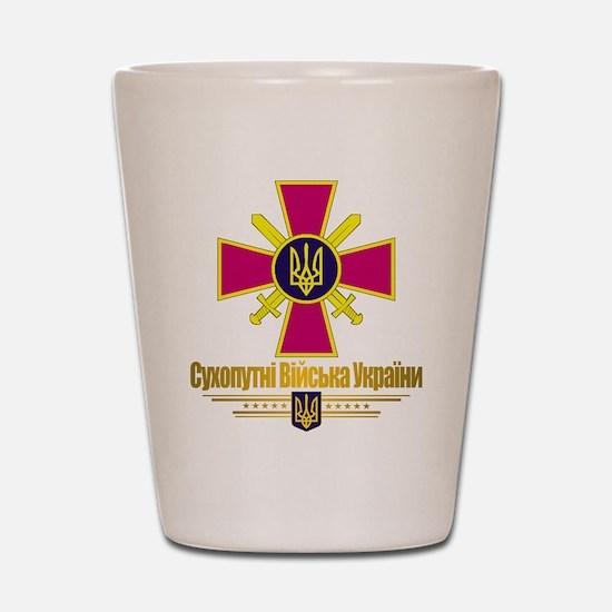 """Ukrainian Ground Forces"" Shot Glass"