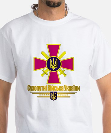 """Ukrainian Ground Forces"" White T-Shirt"
