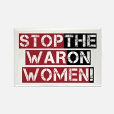 Stop The War on Women Rectangle Magnet