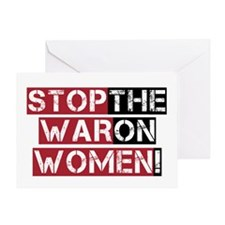 Stop The War on Women Greeting Card