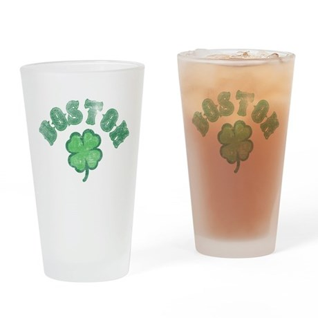 Boston Clover Drinking Glass