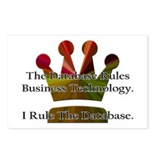 """""""I Rule The Database"""" Postcards (Package of 8)"""