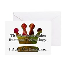 """""""I Rule The Database"""" Greeting Cards (Pk of 10"""