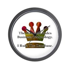 """I Rule The Database"" Wall Clock"