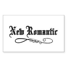 New Romantic Rectangle Decal