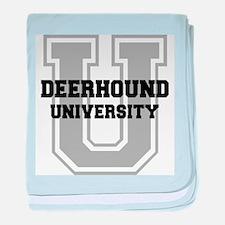 Deerhound UNIVERSITY baby blanket