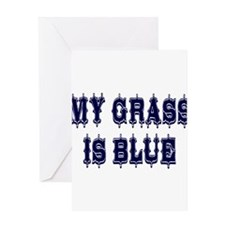 Vintage My Grass Is Blue Greeting Card