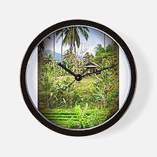 Balinese Farm Wall Clock