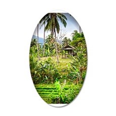 Balinese Farm 22x14 Oval Wall Peel